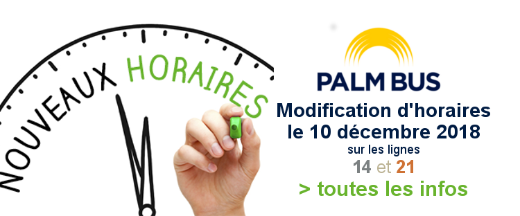 Modifications horaires